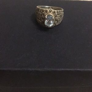 Jewelry - Sterling silver ring with blue stone